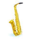 Golden saxophones — Stock Vector