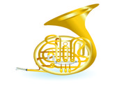 Golden tuba — Stock Vector