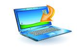 Laptop illustration — Stock Vector
