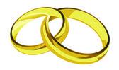 Golden rings illustration — Vettoriale Stock