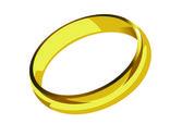 Golden ring single — Stock Vector