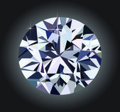 Diamond and black background — Stock vektor