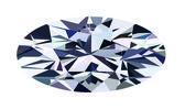 Ellipse diamond — Stock Vector
