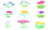 A set of flowers — Vector de stock