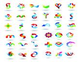 Conjunto de elementos de diseño logotipo — Vector de stock