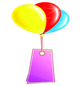 Colored balloon — Stock Vector