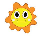 Güneş illüstrasyon — Stok Vektör