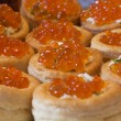 Tartlets with red caviar — Stock Photo #40438313