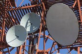 Several parabolic antennas — Stock Photo