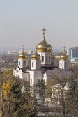 View from the spur Mashuk on Cathedral of Christ the Savior — Stock Photo