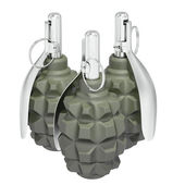 Group of three grenades on white background — Stock Photo