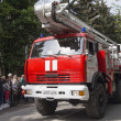 Fire Truck of Fire Department in Kislovodsk in the convoy at the — Stock Photo #46178327
