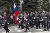 Solemn procession of police of Pyatigorsk in the parade dedicate — Stock Photo