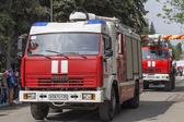 The machine of fire engineering service of Pyatigorsk (Russia) i — Stock Photo