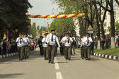 PYATIGORSK, RUSSIA - MAY 9 2014: Victory Day in WWII. Marching m — Stock Photo