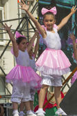 Young dancers on stage — Stock Photo