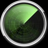 Screen of a radar in green tones  — Stock Photo
