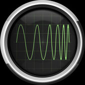 Signal with frequency modulation (FM) — Stock Photo