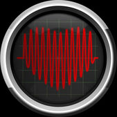 Series of pulses in the form of heart — Stock Photo