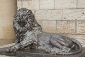 Sculpture of Lion before the underground lake Proval in Pyatigor — Stockfoto