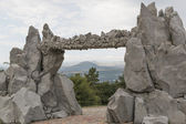 View of mountains through Gate Of the Sun, Pyatigorsk, Russia — Stock Photo