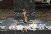 Memorial Eternal Flame in Pyatigorsk, Russia (to lhe lost heroes — Stock Photo