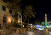 Old Jaffa at night . Israel — Stock Photo