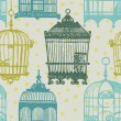Pattern with vintage birdcages — Stock Vector #41565967