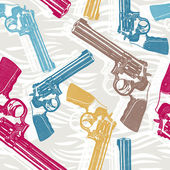 Seamless pattern with handguns — Stok Vektör