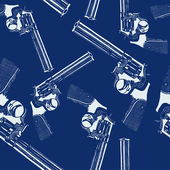 Seamless pattern with handguns — Stockvektor