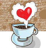 Cap of coffee — Stock Vector