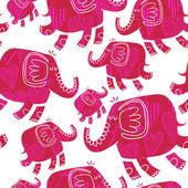 象と心とのシームレスなパターン — ストックベクタ