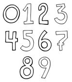 Hand written numbers set — Vector de stock