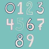 Hand written numbers set — Stock Vector