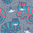 Постер, плакат: Illustration of Smiling Cheshire Cats