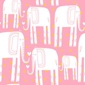 Pattern with elephants — Stock Vector