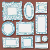 Vintage picture frames and photo frames — Stockvektor