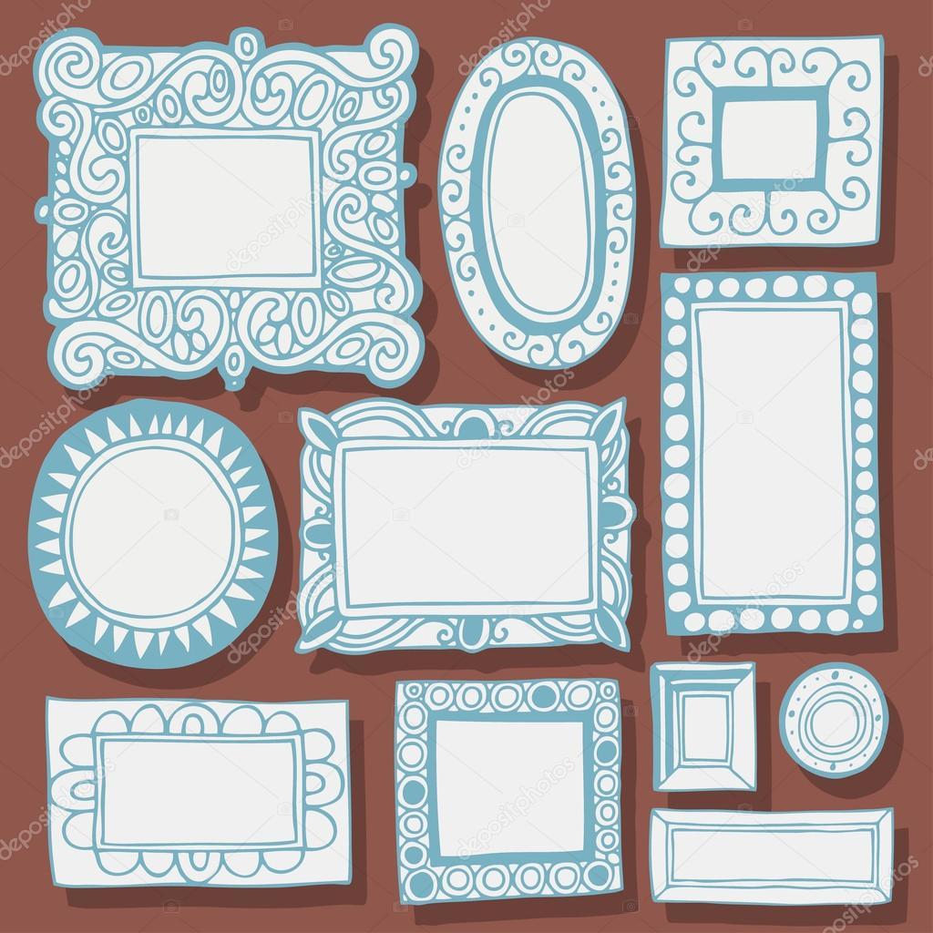 Antiguos marcos de cuadros y marcos vector de stock - Cuadros y marcos ...
