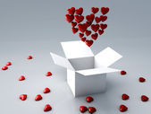 Rött hjärta 3d — Stockfoto