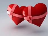 Red heart 3d — Stock Photo