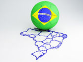 Footbal Brazil 2014 — Stock Photo