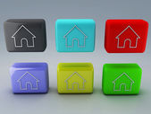 Web home icon — Stock Photo