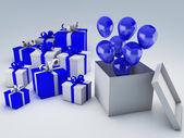 Geburtstag-Geschenk-box — Stockfoto