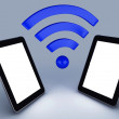 Wifi network tablet pc — Stock Photo #42733853