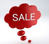 Bubble speech sale — Foto Stock