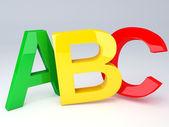 ABC Letters.  Education concept. 3d illustration — Stockfoto