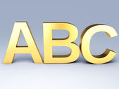 ABC Letters.  Education concept. 3d illustration — Stock fotografie