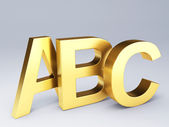Gold ABC Letters.  Education concept. 3d illustration — Stock fotografie