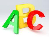 ABC Letters.  Education concept. 3d illustration — Stock Photo
