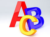 ABC Letters.  Education concept. 3d illustration — Stock Photo